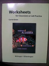 Worksheets for Elementary Algebra : Concepts and Applications 8th Edition