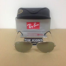 Ray Ban Aviator Sonnenbrille 3025 W3277 Silber