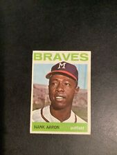 New listing 1964 TOPPS #300 HANK AARON. No Creases