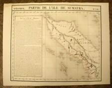 NORD DE L'ILE DE SUMATRA carte geographique Océanie par VANDERMAELEN 1827