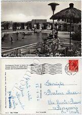 Cartolina di Ostia (Lido di Roma), piscina - Roma, 1954