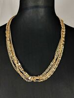 Lovely Gold-tone Multi-chain Necklace Jewellery by Sarah Coventry