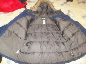 The North Face McMurdo Winter Parka Goose Down Jacket Coat Super Warm Blue Mediu