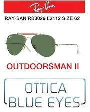 Occhiali da sole RAYBAN OUTDOORSMAN II Ray Ban rb 3029 L2112 62mm Sunglasses new