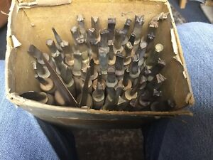 50 Crafting,leatherworkers,tools.punches,stamps Letters,numbers,vintage