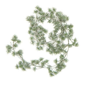 Green and Silver Plum Thistle Garland   2 Pieces