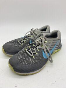 Nike Metcon DSX Flyknit Womens Sz 10.5 Grey Blue Exercise Shoe 849809-004