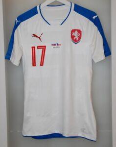 Match worn shirt Czech national team Basel Switzerland Augsburg Germany