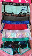 Victorias Secret PINK PANTIES LOGO BAND BOY SHORTS - LOT OF 5  - MEDIUM - NWT