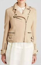 NWT Authentic Burberry Brit Sandfield Suede Moto Jacket Size US 4 Ret $1995