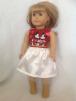 Be Mine Valentine Day Tutu Skirt Set 18 in Doll Clothes Fits American Girl