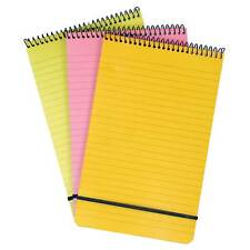 Note Pad A5 Spiral Multi-coloured Neon Ruled Office/School Notebook - Pack of 3