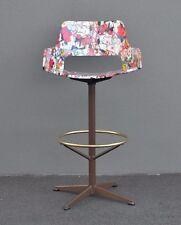 Vintage kitchen industrial swivel bar stool  Decoupage Graffiti art Kendall