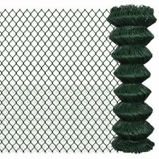 vidaXL Galvanised Steel 1.25 x 25 m Chain Link Fence - Green (140350)