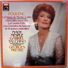 LP Mady MESPLE & Gabriel TACCHINO : Poulenc Récital.. / EMI digital neuf sealed
