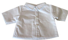 18 inch Doll White Button Front Shirt - Blouse for American Girl Type Dolls