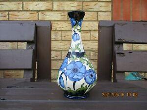 Moorcroft Pottery  Blue Anemone vase 2015 Sissons Gallery