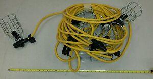 70FT AK-EL-SL Industrial Tent Light String 6 Lights & Steel Wire Lamp Guard