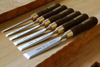 Narex 853750 Bois Ligne Plus Lot de 4 Butt Ciseaux dans une affaire 6 mm 12 mm 20 mm /& 26 mm