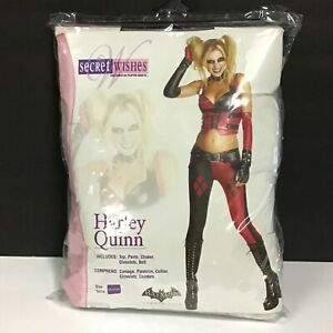 Harley Quinn Deluxe Sexy Adult Halloween Cosplay Costume Secret Wishes / Size M
