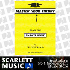 "Master Your Theory - Grade 1 / One ""Answer Book"" - Dulcie Holland *NEW*"