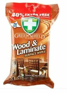 Green Shield Wood & Laminate Floor Surface Cleaning Polishing Wipes 70 wipes