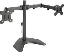 VIVO Dual LED LCD Monitor Free-Standing Desk Stand for 2 Screens up to 27 inches