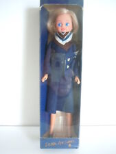 Vintage 1980's Delta Airlines Mini Flight Attendant Doll With Box Excellent!!