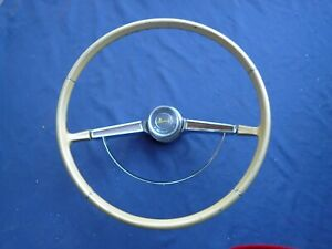 1965-66 Chevy Impala steering wheel assembly, gold, nice!