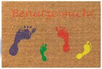 Betz paillasson rectangulaire 40 x 60 cm essuie-pieds tapis en fibre de coco ave