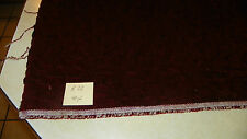 Burgundy Crushed Velvet Fabric / Upholstery Fabric  1 Yard  R32