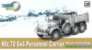 Dragon Armor 1/72 German Kfz.70 6x4 Personnel Carrier Truck, Winter Camo 60501