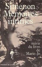 SIMENON MEMOIRES INTIMES + PARIS POSTER GUIDE