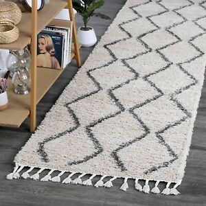 Sefrou Tapis Tribal Cream Grey Moroccan Rug Runner - 2 Sizes **FREE DELIVERY**