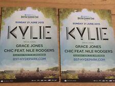 KYLIE MINOGUE-GRACE JONES-NILE RODGERS-GOLDEN-BST HYDE PARK CONCERT FLYER X2
