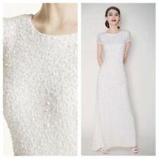 Scoop Neck Column/Sheath Cap Sleeve Wedding Dresses