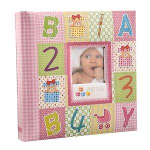 10 x 15 cm Baby Memo Photo Album 200 Hold Slip In case, Alphabet/Number Cover