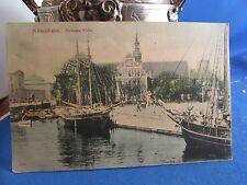 cpa danemark kobenhavn copenhague port bateaux