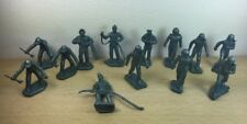 Marx Playset Marx 45mm Metalic Blue Airmen Lot Air Force Figures Astronaut Pilot