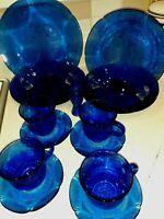 16 pc Vintage Forte Crisa  Mexico Cobalt Blue Dinnerware