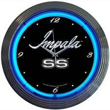 Impala Neon clock car chevy chevrolet SS licensed auto muscle brand drag racing