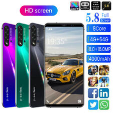 5.8'' Smartphone 4+64G Dual SIM Card Octa Core Android 9.1 Smart Mobile Phone