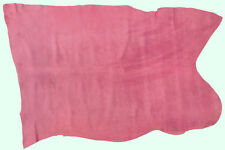 PIG SKIN SUEDE LEATHER 9.25 SQFT BARBIE PINK 0.5MM THICK  SOFT VELOUR FEEL L4C