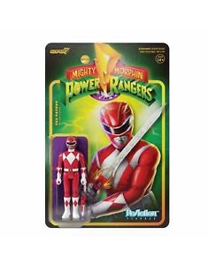 Red Ranger Mighty Morphin Power Rangers Super 7 Reaction Figure