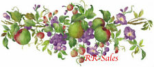 Huge Fruit Tuscan Apples Berry Grapes Lg Wall Decor Imperial Instant Stencils