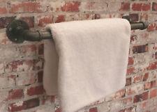 Industrial Steel Pipe Towel Rail Holder DIY