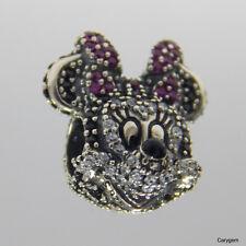 Authentic Pandora Charm Limited Edition Disney Minnie 791796NCK W Suede Pouch