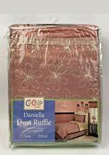 Cocalo Daniella Dust Ruffle Bedskirt in Standard Twin Size Bed - New