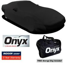 C4 CORVETTE HIGH END ONYX BLACK SATIN CUSTOM FIT STRETCH INDOOR CAR COVER 84-96