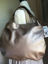 Michael Rome Metallic Gold Lthr W/ Chain Accent Handle MSRP $135 LOWER $$$
